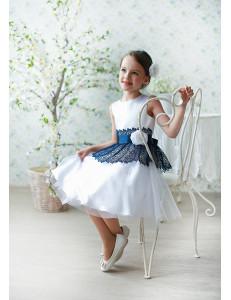 Платье нарядное белого цвета Мэгги